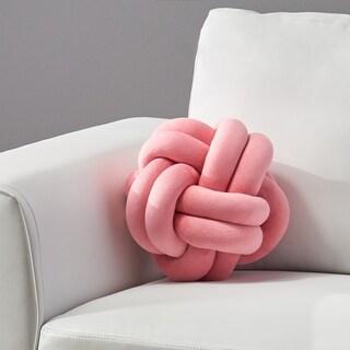 Benton Modern Soft Velvet Clove Hitch Knot Pillow by Christopher Knight Home