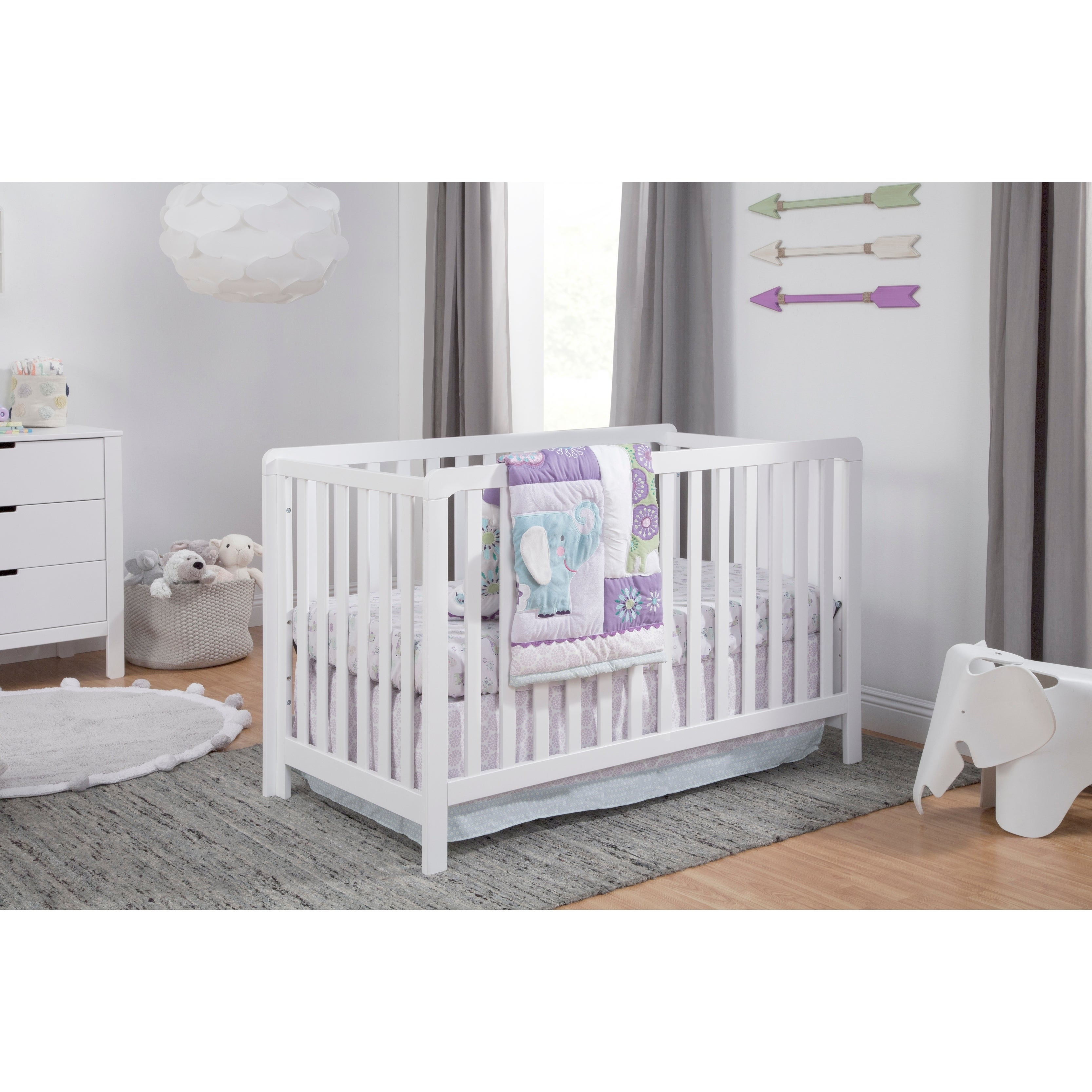 Carter S By Davinci Colby 4 In 1 Low Profile Convertible Crib Overstock 27746072 Emerald
