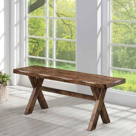 Carbon Loft Gawain Rustic Nutmeg Wood Bench