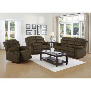 Salem Chocolate 3-piece Reclining Living Room Set