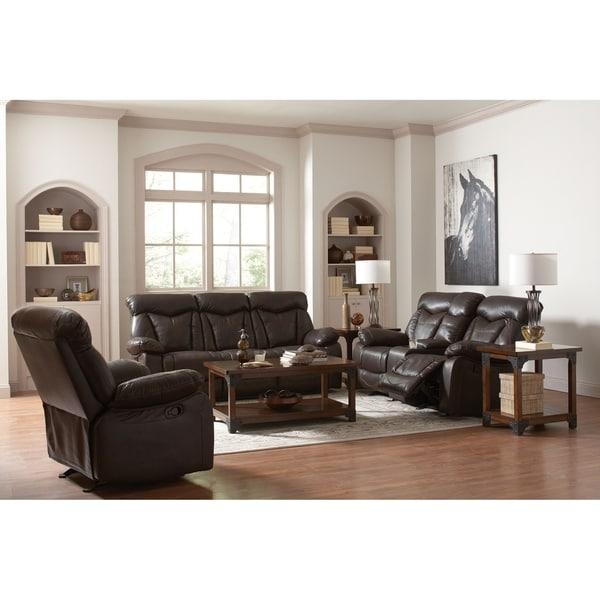 Lassiter Dark Brown 3-piece Living Room Set