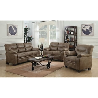 Mertens Brown 2-piece Living Room Set