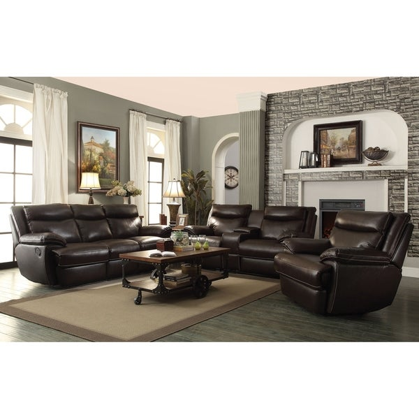 Forbes Brown 2-piece Leather Living Room Set