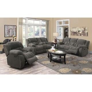 Gerardo 3-piece Plush Reclining Living Room Set