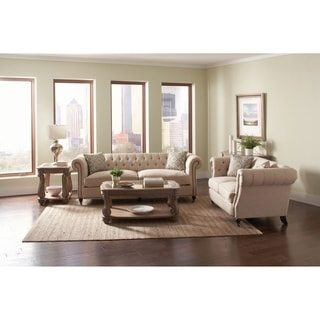 Clarice Oatmeal Traditional 2-piece Living Room Set