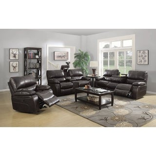 Downing 3-piece Leather Living Room Set
