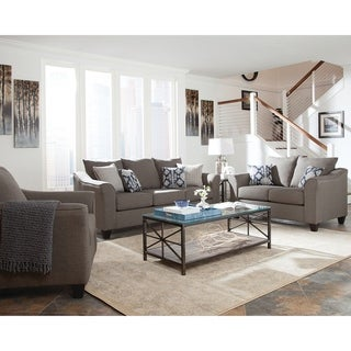 Creston Grey 3-piece Living Room Set