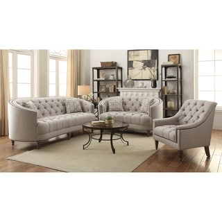 Sordahl Beige 3-piece Fabric Living Room Set