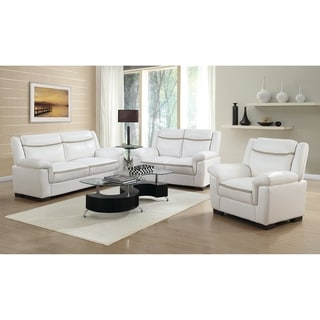 Borden Contemporary 2-piece Faux Leather Living Room Set