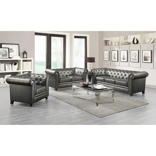Andreas Traditional 3-piece Living Room Set