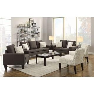 Montego Grey 3-piece Living Room Set