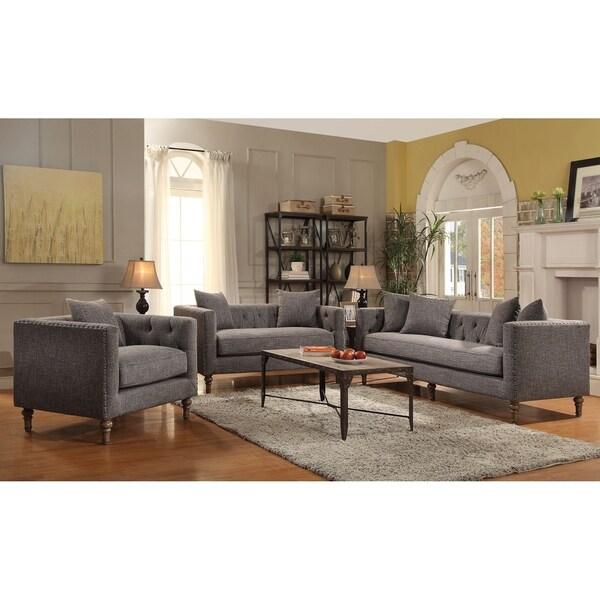 Soho Grey 2-piece Living Room Set