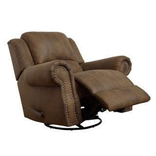 Cayuta Buckskin Brown Swivel Rocking Recliner