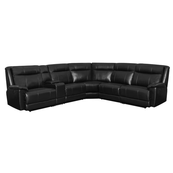Bellamy Casual Black 6-piece Power Sectional