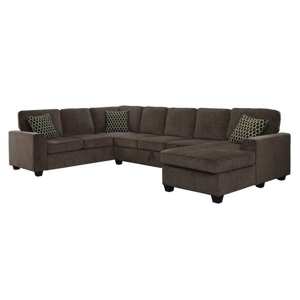 Marco Transitional Brown Chenille Sectional