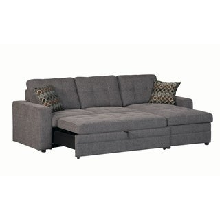 Petra Casual Charcoal Sectional with Sleeper