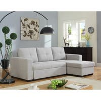 Shop Kachy Fabric Convertible Sectional Sofa Bed On Sale