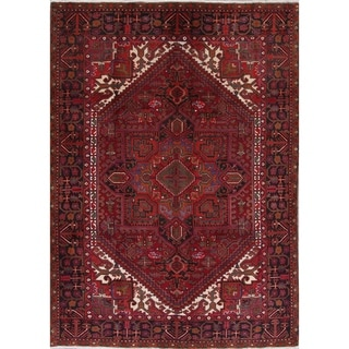 "Heriz Geometric Hand-Knotted Wool Persian Oriental Area Rug - 9'2"" x 6'8"""