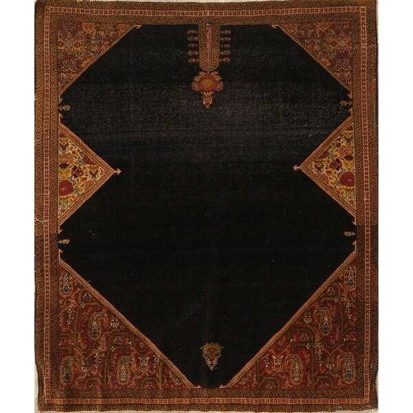 "Sarouk Farahan Geometric Hand-Knotted Wool Persian Oriental Rug - 3'0"" x 3'4"" Square"