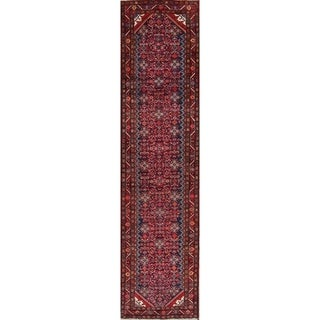 """Malayer Geometric Hand-Knotted Wool Persian Oriental Rug - 13'6"""" x 3'5"""" Runner"""