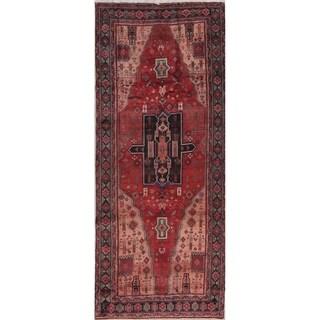 "Zanjan Tribal Geometric Hand-Knotted Wool Persian Oriental Rug - 9'10"" x 3'11"" Runner"
