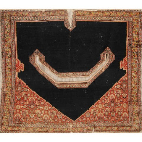 """Senneh Geometric Hand-Knotted Wool Persian Oriental Area Rug - 3'6"""" x 3'1"""""""