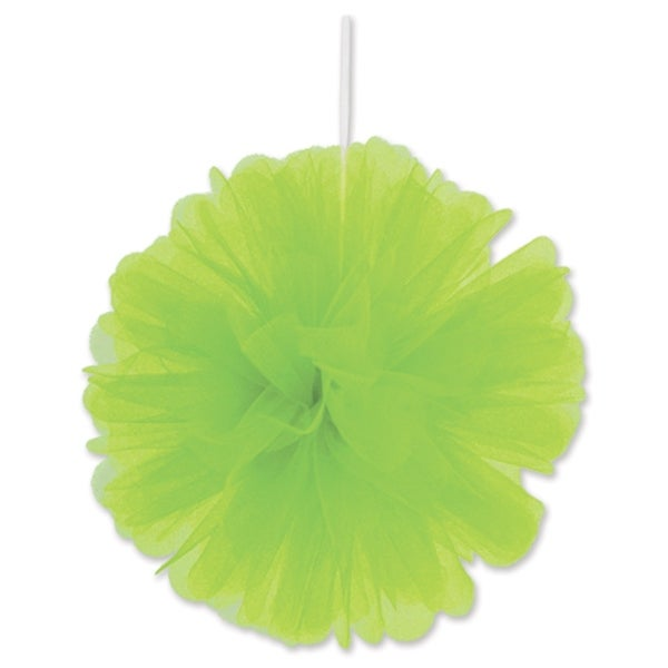 "Beistle 8"" Home Party Hanging Tulle Ball Decoration, Lime green - 12 Pack (2/Pkg)"