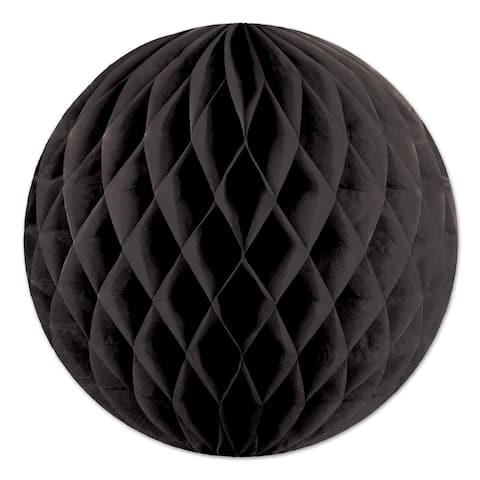 "Beistle 12"" Home Party Hanging Tissue Ball Decoration, Black - 24 Pack"