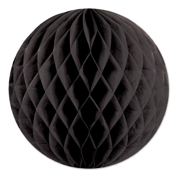 """Beistle 12"""" Home Party Hanging Tissue Ball Decoration, Black - 24 Pack"""