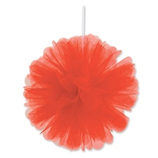 "Beistle 8"" Home Party Hanging Tulle Ball Decoration, Red - 12 Pack (2/Pkg)"