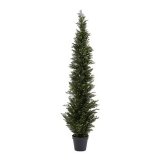Link to Pure Garden Artificial Potted Cedar Plastic 6' Tall Indoor/Outdoor UV Protection Topiary Tree Similar Items in Decorative Accessories