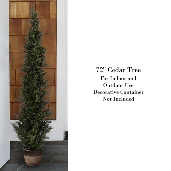 Artificial Plant Fake Indoor Outdoor Potted Cedar Spiral Tree Office Decor 6 ft