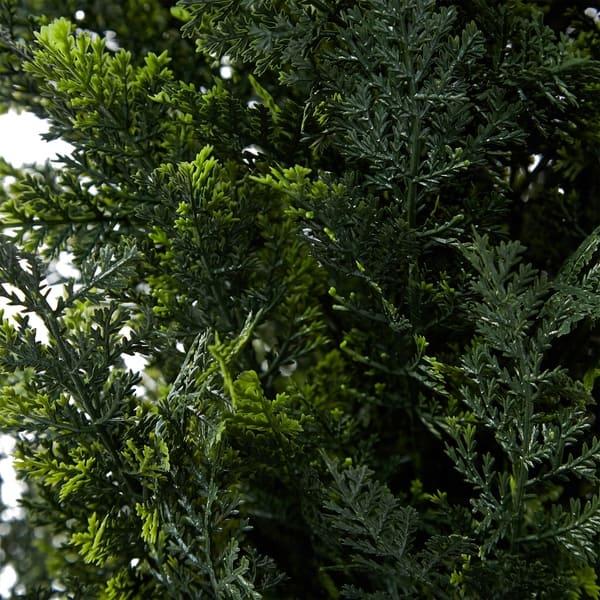 Shop Pure Garden Artificial Potted Cedar Plastic 6 Tall Indoor