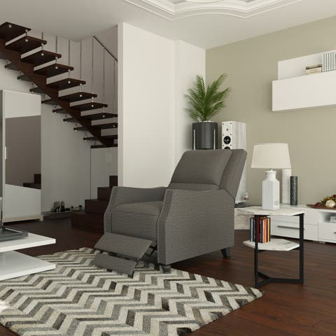 ProLounger Chenille Tufted Push-back Recliner Chair