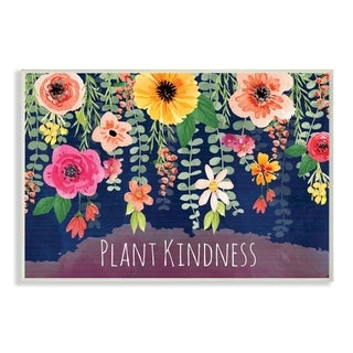 The Stupell Home Decor Plant Kindness Colorful Falling Floral Arrangement in Pink Orange Yellow, 10 x 15, Proudly Made in USA