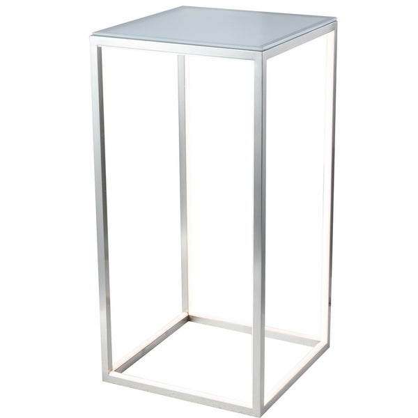 Dimmable Nickel Aluminum LED Side Table