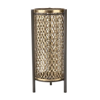 Antiqued Gold Candle Stand