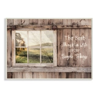 The Stupell Home Decor Simple Things Rustic Barn Window Distressed Photograph, 12 x 18, Proudly Made in USA - 12 x 18