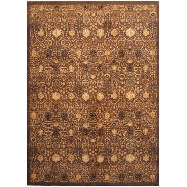Handmade One-of-a-Kind Vegetable Dye Khotan Wool Rug (India) - 10' x 13'7