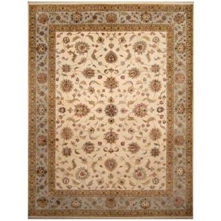 Handmade One-of-a-Kind Tabriz Wool and Silk Rug (India) - 10' x 13'2