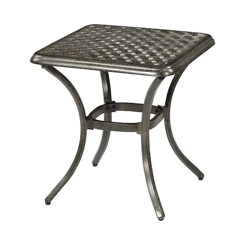 Agio Madison Fossil-Finished Aluminum Outdoor End Table