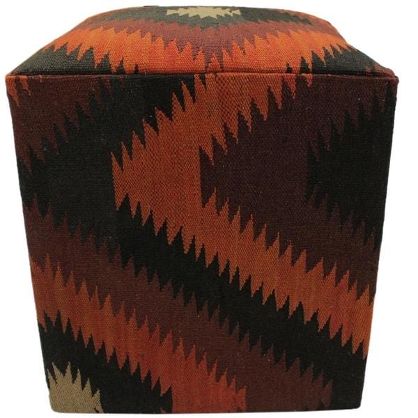 Amazing Shop Elizondo Black Dark Brown Handmade Kilim Upholstered Ncnpc Chair Design For Home Ncnpcorg