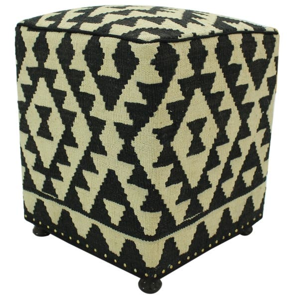Awe Inspiring Shop Arshs Fine Rugs Hare Black Ivory Wool Handmade Kilim Cjindustries Chair Design For Home Cjindustriesco