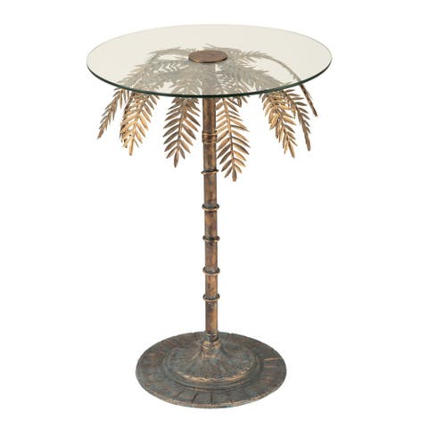 Palm Tree Side Table