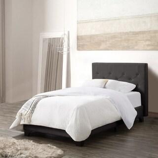 CorLiving Nova Ridge Twin/Single Diamond Button-Tufted Fabric Bed and Frame