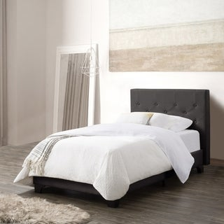 CorLiving Nova Ridge Twin/Single Diamond Button-Tufted Fabric Bed and Frame
