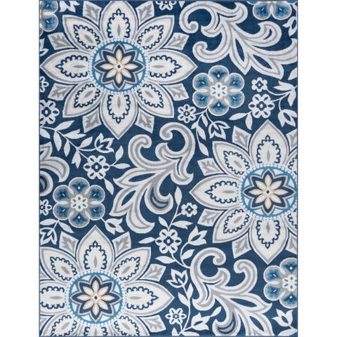 Alise Rugs Carrington Transitional Floral Area Rug