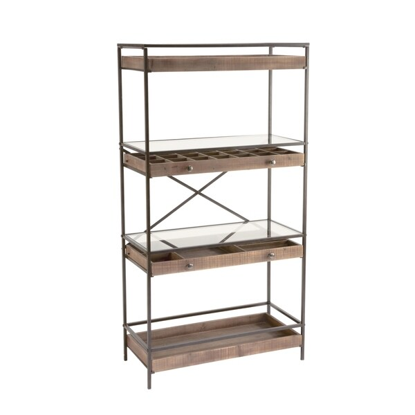Display Shelf with Storage Drawers