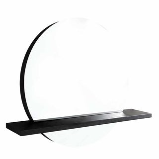 """Solace 22"""" Mirror and Shelf in Midnight Oak"""