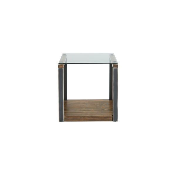 Midtown Glass Top End Table